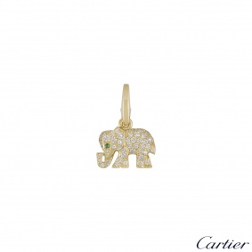 Cartier Yellow Gold Diamond Elephant Charm